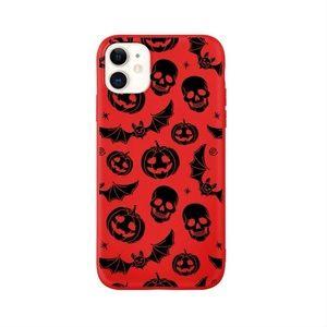 Red Halloween Bats & Skulls iPhone 11 Pro Max Case